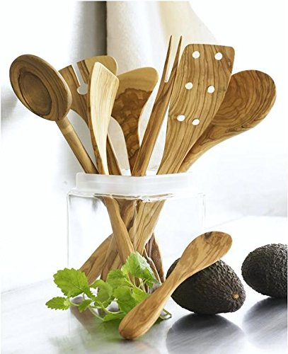 Scanwood Olive Wood Utensil (Spatula Spoon Ladle 3 Piece Set 12 Inch) by Scanwood (Image #1)