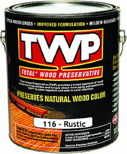 TWP/Gemini TWP116-1G Rustic TWP® Wood Preservative ~ 1 Gallon (Twp 100 Series Wood And Deck Stain)