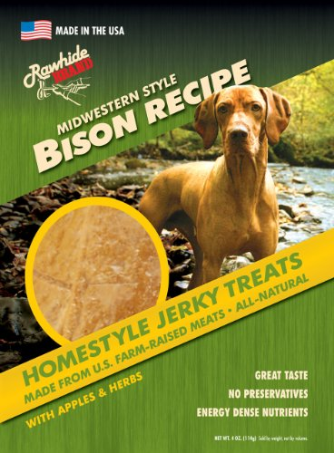 UPC 020279351207, Rawhide Brand Midwestern Bison Jerky Treats, 4-Ounce