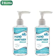 2 Bottle Refreshing Hand Sanitizer Gel, Instant Hand Sanitizer Alcohol Based (60 Ml) With Moisturuzers Kill 99.9% of Germs P