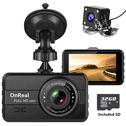 Onreal Dual Dash Cam FHD 1080P Front and Rear Cameras 3
