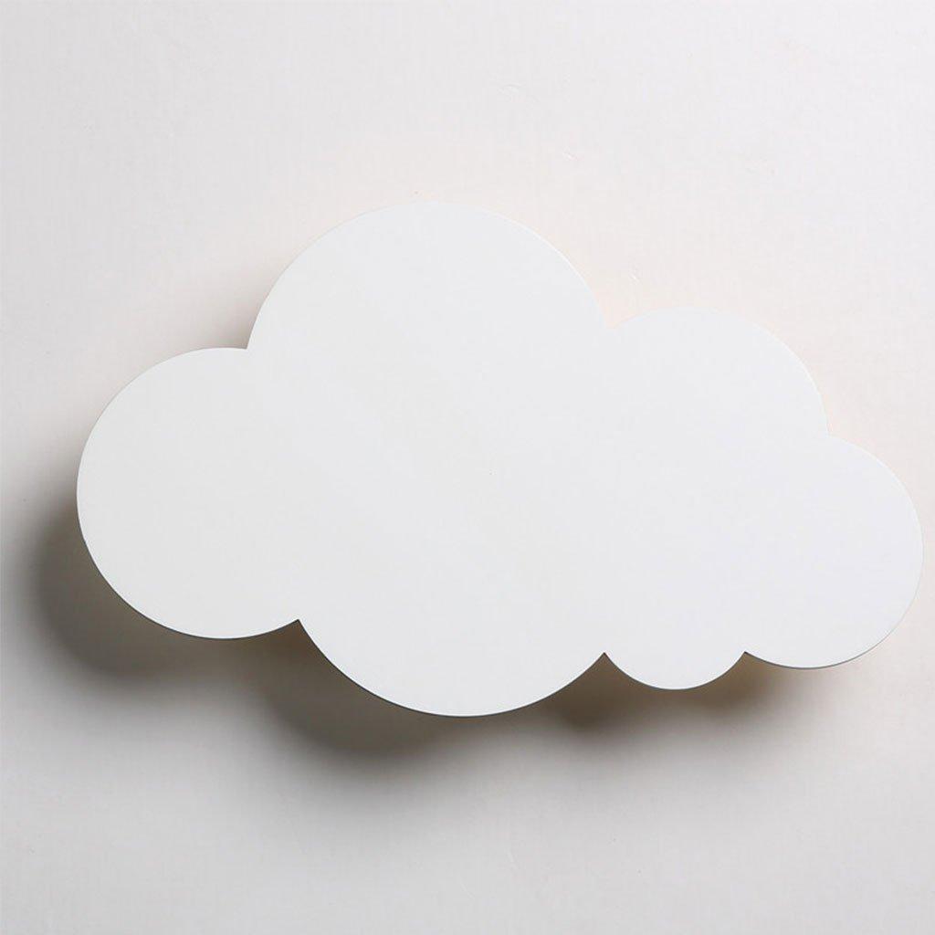 Applique da parete per la casa, Personalità creativa moderna semplice del fumetto LED della lampada da parete della nuvola Camera da letto del lato del letto bella decorazione della luce della stanza dei bambini - HMLIFE ( Colore : Bianca )