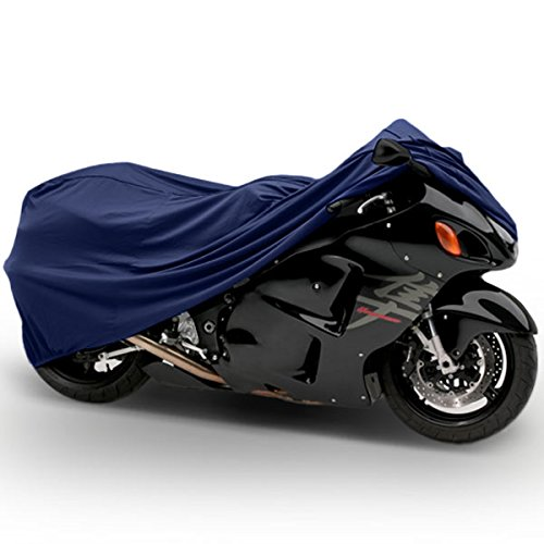 "Superior Travel Dust Motorcycle Sport Bike Cover Covers : Fits Up To Length 90"" - All Sport Bikes & Small To Medium Cruiser Bikes - Yamaha Honda Suzuki Kawasaki Ducati Triumph Motorcross Covers"
