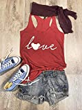 Large/Red Tri-Blend Tank/Disney Love/Love Mickey/True To Women's Fit/Eco Friendly Ink Screen Printed/Hand Made/Women Clothing/Disney Inspired Tank/Super Soft Tank/