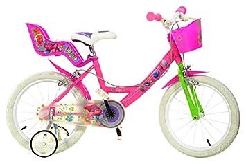 Bicicleta Chica 16 Pulgadas Dino Trolls Ruedas Extraíbles Cesta y ...