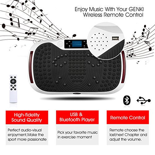 GENKI YD-1015W Vibration Platform Plate Whole Body Massager Machine Slim Exercise Fitness by GENKI (Image #4)