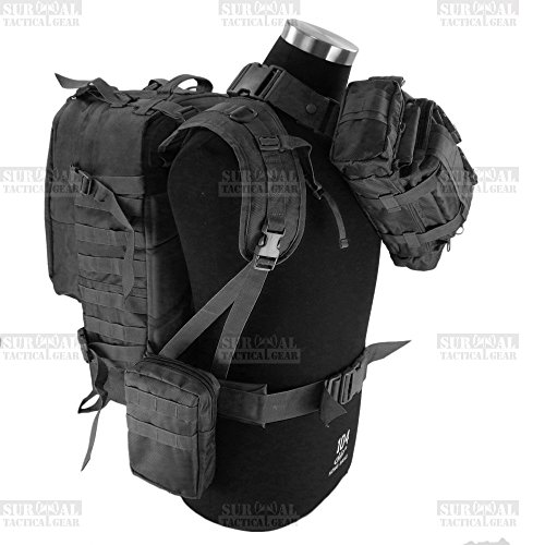 ZAPT Tactical Military Bag Mountaineering Hiking Outdoor Combination Bag,Day Backpack