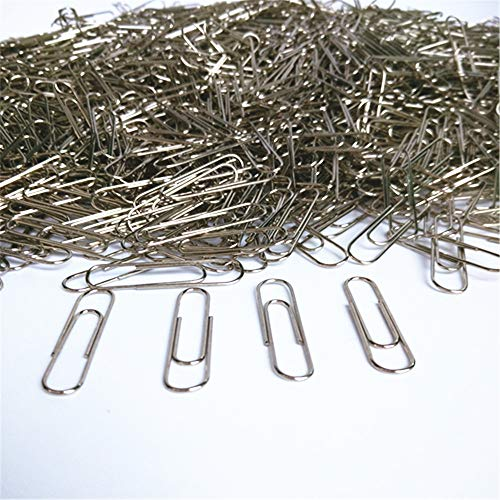 100Pcs Paper Clips Pulison Silver Office Paper Clip School Supplies Study Article Assorted Sizes Silver Paperclips for Office School Clips and Personal Document
