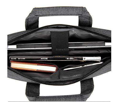 CMING Shockproof Airbag Waterproof Laptop Bag 12 13 14 15 15.6 17 17.3 Inch Big Size Computer Bags Case Messenger Shoulder Bag (Color : Gray, Size : 14 inch)