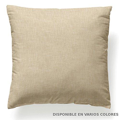 Jarrous Funda de Cojín Modelo Chris, Color Beige, Medida 60x60cm