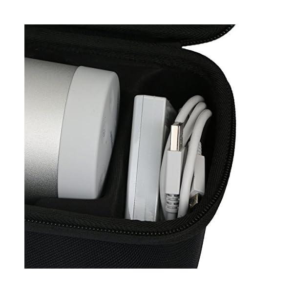 Khanka Dur Cas étui de Voyage Housse Porter pour bose soundLink Revolve Enceinte Bluetooth S'adapte Socle 4