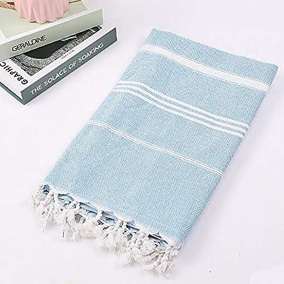 Mari's Products Large Turkish Towel with Soft Terryback, Striped Peshtemal Terry Back Turkish Bath Towel, Gym & Beach Towel, Thin Oversized Hammam Towel, Plus Size Fouta, Big Bath Sheet -  - bathroom-linens, bathroom, bath-towels - 51voMiZ2AML. SS400  -