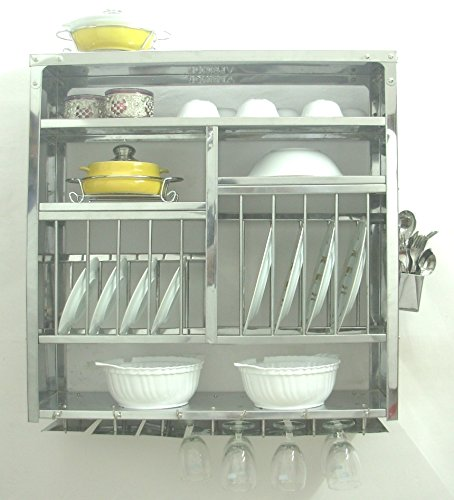 Amazon.com - Dish Drying Display Rack Stainless Steel Hand Made - Wall Hanging (76x24x76 Cm) -  sc 1 st  Amazon.com & Amazon.com - Dish Drying Display Rack Stainless Steel Hand Made ...