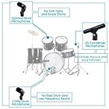 ammoon Wired Microphone Mic Kit for Drum Set with