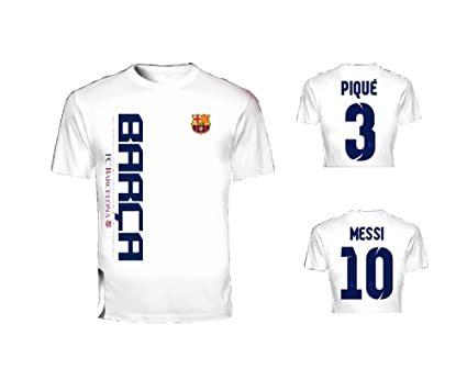 fa7b92c3596 Lionel Messi Back Number Printed Barcelona Football Club Soccer Fan T-shirt  P-08 (Large Size)  Amazon.co.uk  Sports   Outdoors