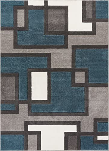 Well Woven Blue Imagination Squares Modern Geometric 9 3 x 12 6 Area Rug