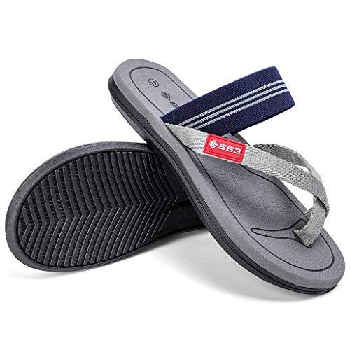 Naladoo Men Women Beach Flip Flops Flat Sandals Summer Outdoor Slip-On Slippers by Naladoo Men's Shoes (Image #2)