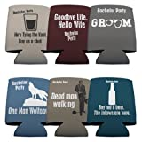 Bachelor Party Drink Can Cooler Goodbye Life Hello Wife- set of 6