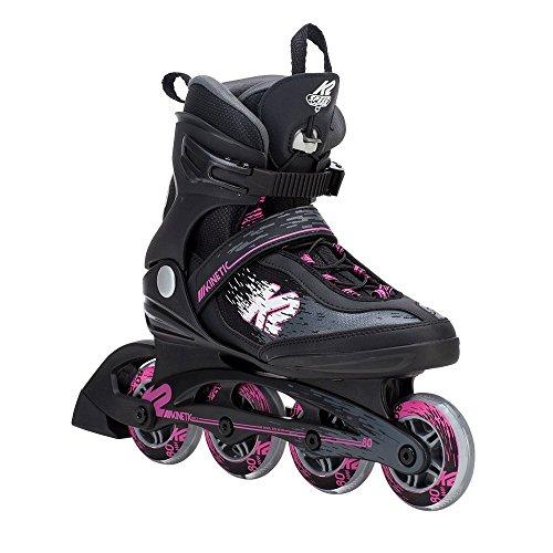 K2 Skate Women's Kinetic 80 Pro Inline Skate, Black Pink, - Skis Womens Beginner