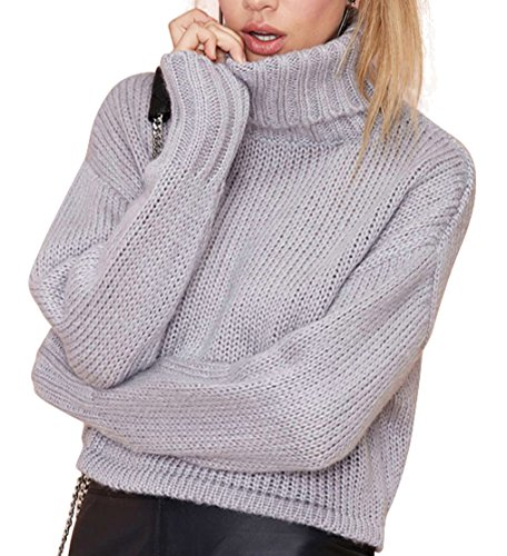 Wishwhat Oversized Sweaters Turtleneck Sweater