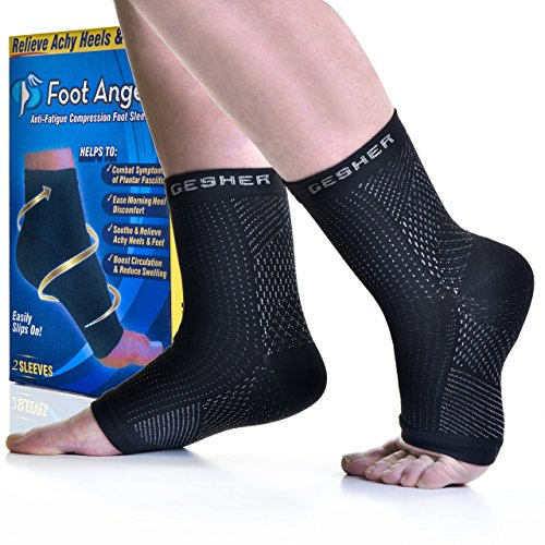 Premium Ankle Support Medical compression sock Foot Sleeves Plantar Fasciitis Compression Foot Socks, Arch Support & Ankle (Pair) Black lightweight Foot Brace with Arch(one size)