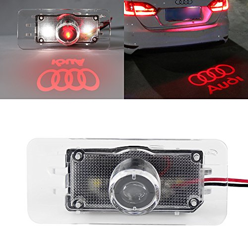 EZYKOO Car Logo License Plate Light LED Projector Ghost Shadow Lamp Easy Installation for Audi - Red - Garage Floor Paint Reviews