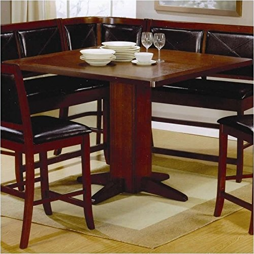 Coaster 101791-CO Counter Height Dining Table Dark, Dark Brown Finish by Coaster Home Furnishings