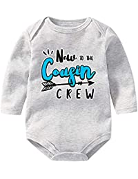 80ac256fe New to The Cousin Crew Funny Unisex Baby Bodysuits Long Sleeve Onesies  Romper Outfits Jumpsuit