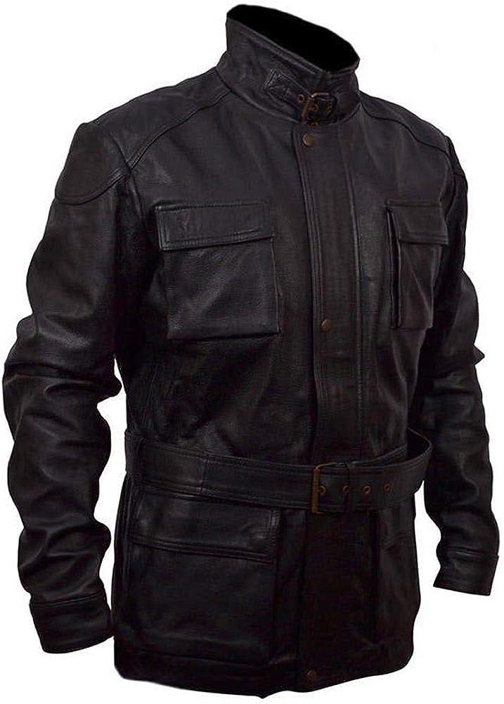 Stormwise Mens Fashion Banes Real Leather Bat Jacket