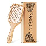 [Upgraded]Natural Wooden Bamboo Hair Brush For Women,Men Hair Eco-Friendly Bamboo Bristles Pin Hairbrush Scalp Massage Improve Thin,Straight,Long,Curly,Short Hair Health,Paddle Detangling Brush