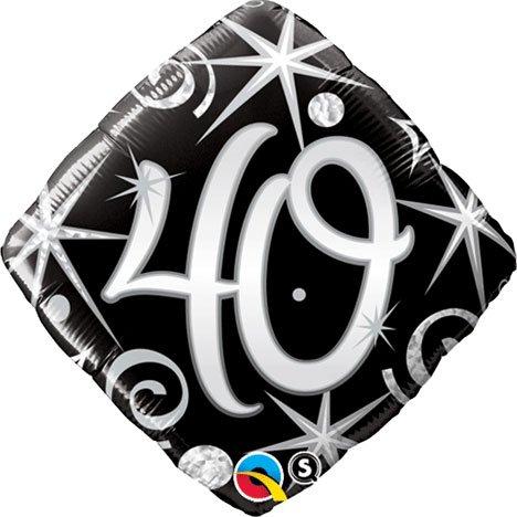 Qualatex 18 Inch Diamond Foil Balloon - 40 Elegant Sparkles & Swirls