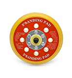 5'' (125mm) Hook and Loop Sanding Pad, Dual Action Random Orbital Sanding Pad (8 hole)