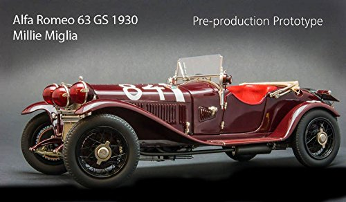 CMC-Classic Model Cars Alfa Romeo 6C 1750 Gran Sport 1930 Mille Miglia Limited Edition Die Cast Vehicle (1:18 Scale)