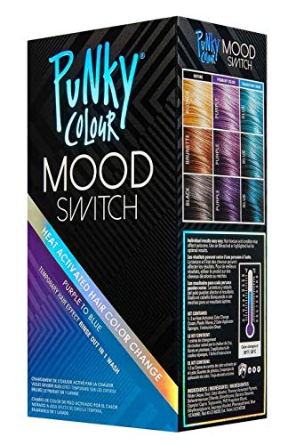 (Punky Colour Purple To Blue Mood Switch Heat Activated Hair Color Change, Temporary Hair Effect)