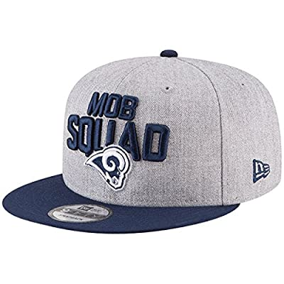 New Era Authentic Los Angeles Rams Heather Gray/Navy 2018 NFL Draft Official On-Stage 9FIFTY Snapback Adjustable Hat