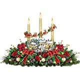 Thomas Kinkade The Lights Of Christmas Illuminating Village Table Centerpiece by The Bradford Exchange