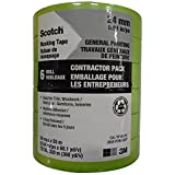Scotch General Painting masking Tape, 24mm x 55m, Green, Contractor 6-Pack