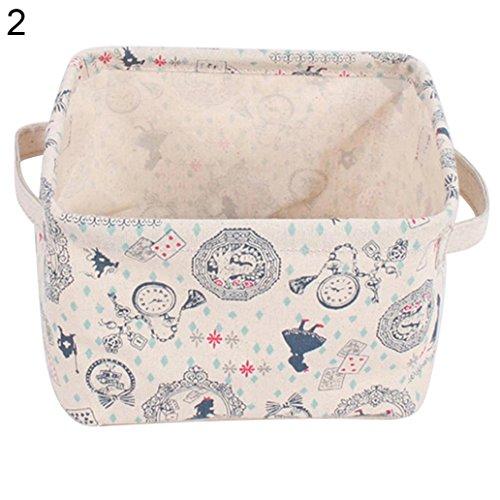 Finance Plan Cute Pattern Cotton Linen Bag,Phone Container Storage Box