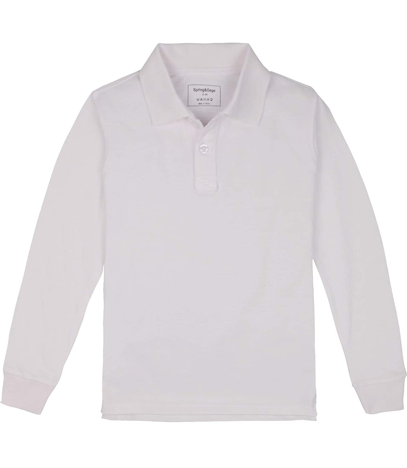 Spring/&Gege Kids//Childrens Long Sleeve Uniform Pique Polo Shirt