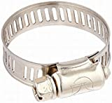 Houseuse Water Gas Pipe Worm Drive Hose Clamp Adjustable Hoop (5 Piece), 18-32mm
