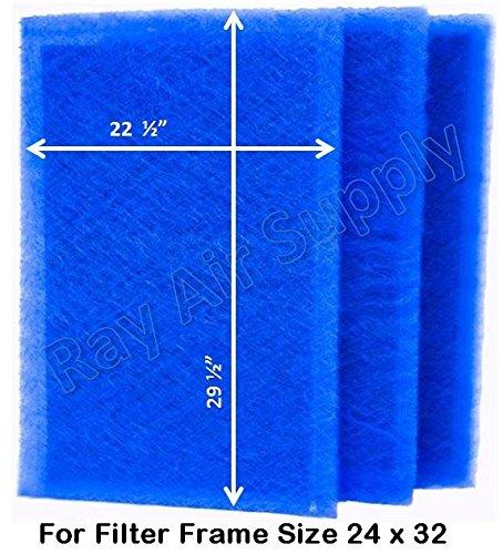 ダイナミックエアフィルタ( 3パック) 21 x 25 1/4 ブルー DVM B01INWA5RO 21 x 25 1/4  21 x 25 1/4