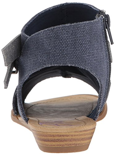 Pu Dyecut M B Canvas Blowfish Wedge US Sandal Rancher 6 Mushroom Birch Balla Women's Indigo TzTwqRU