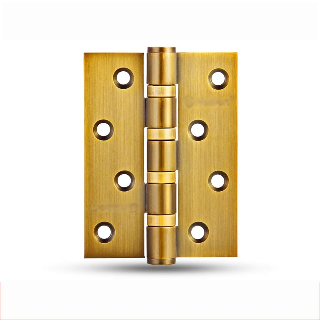 LEZDPP Door Hinge Wooden Door 4 Inch Security Door Hinge Wooden Door Hinge Stainless Steel Door Swing Hinge 1 Piece (Color : D, Size : 4pcs) by LEZDPP