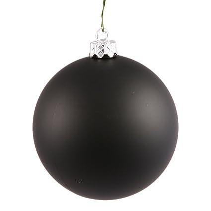 Black Christmas Balls.Vickerman Matte Black Uv Resistant Commercial Drilled Shatterproof Christmas Ball Ornament 2 75