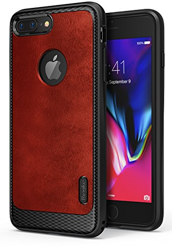 Ringke Flex S Advanced Compatible with Apple iPhone 7 Plus Phone Case, Coated Textured Leather Style Flexible TPU Advanced Shock Protection Durable Sophisticated Rustic Cover for iPhone7 Plus - ()