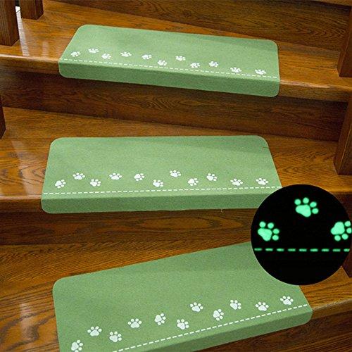 ❤️Simplin❤️Luminous Visual Stair Carpet Pad Anti-Skid Staircase Mats Safe Treads Soft (Green) from Simplin_❤️Mat