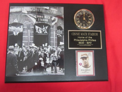 Philadelphia Phillies Connie Mack Stadium - Connie Mack Stadium / Shibe Park Collectors Clock Plaque w/8x10 Photo and Card