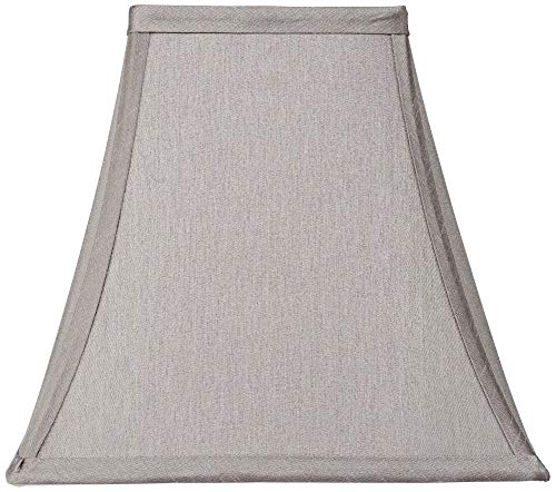 Pewter Gray Square Shade 5.25x10x9.5 (Spider) - Springcrest (Tie Dye Lamp Shade)