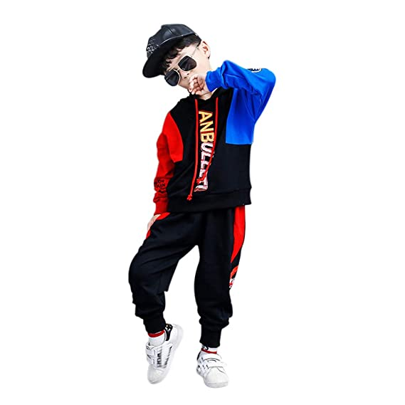 Kids Hoodie Sweatshirt Long Pants Set  2Pcs Sports Wear Tracksuit 120-160cm