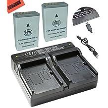 2-Pack of EN-EL24 Batteries and USB Dual Battery Charger for Nikon 1 J5, DL18-50, DL24-85 Digital Camera